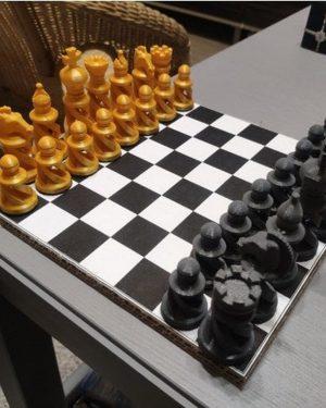 Elegant Spiral Chess Set